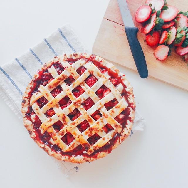 Strawberry Balsamic Black Pepper Pie