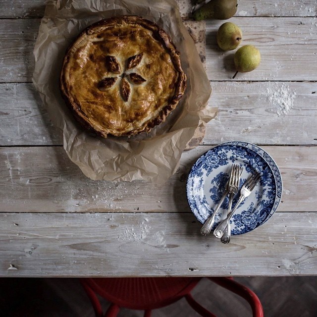 Pear And Proscuitto Pie With Gorgonzola And Ricotta