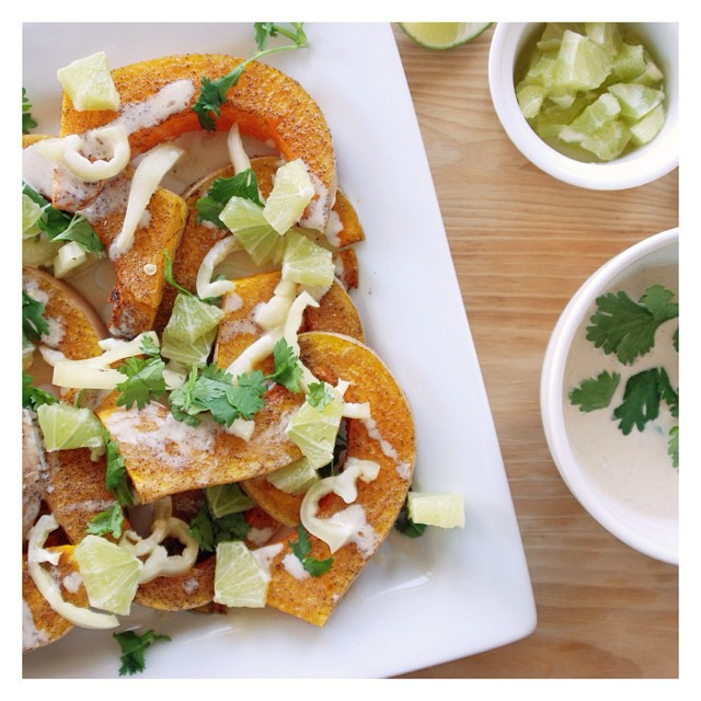 Roasted Butternut Squash With Lime
