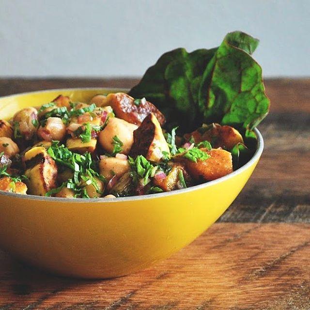 Moroccan Marinated Chickpea & Delicata Squash Salad