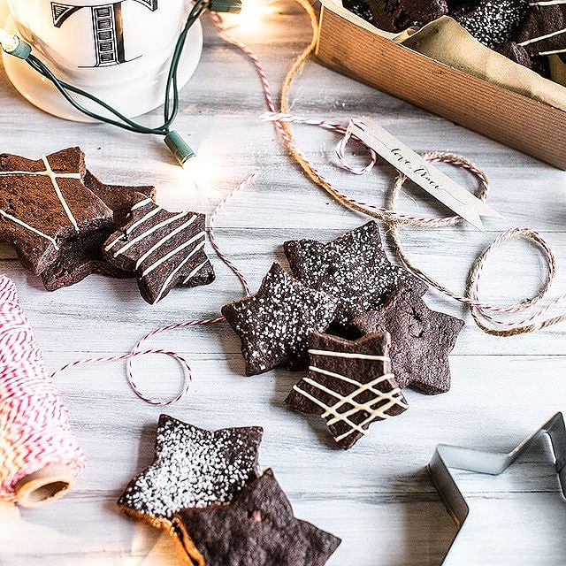 Dark Chocolate Cocoa Nib Shortbread Cookies