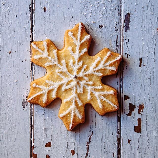 Snowflake Iced Sugar Cookies
