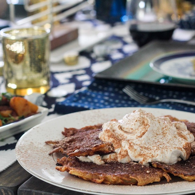 Mexican Chocolate Latkes With Cinnamon Whipped Cream