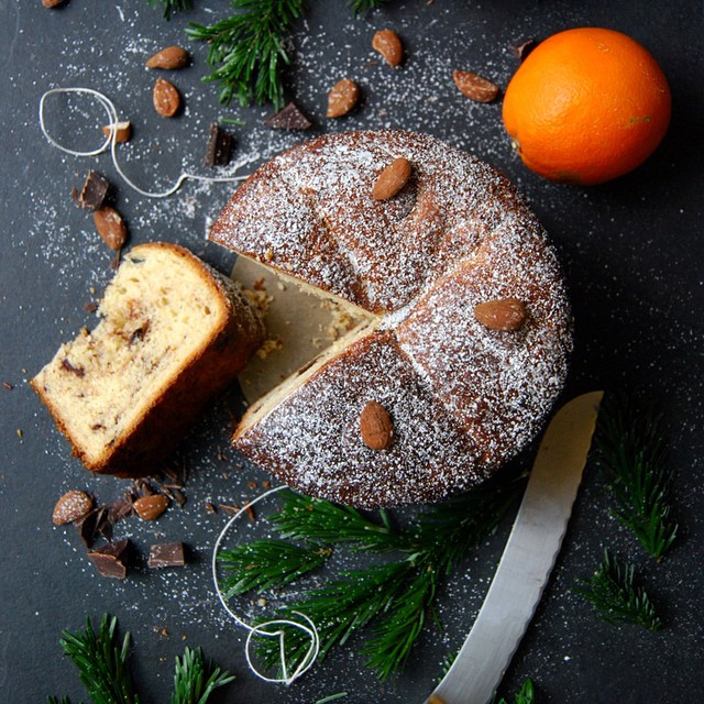 Christmas Chocolate And Orange Panettone