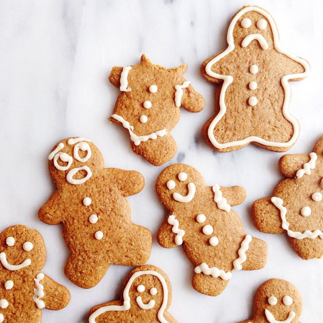 I had way too much fun decorating these Gluten-Free Gingerbread Man Cookies!