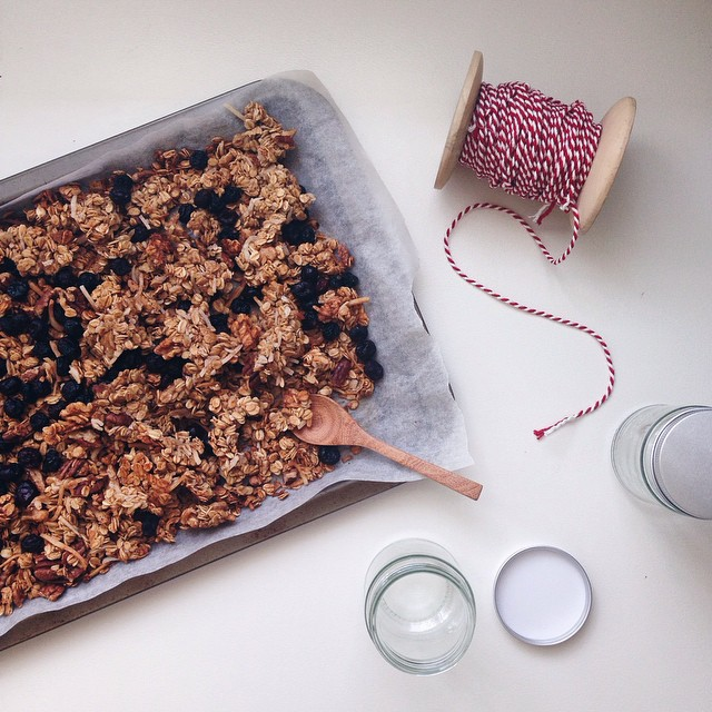 Crunchy Maple Cranberry Granola
