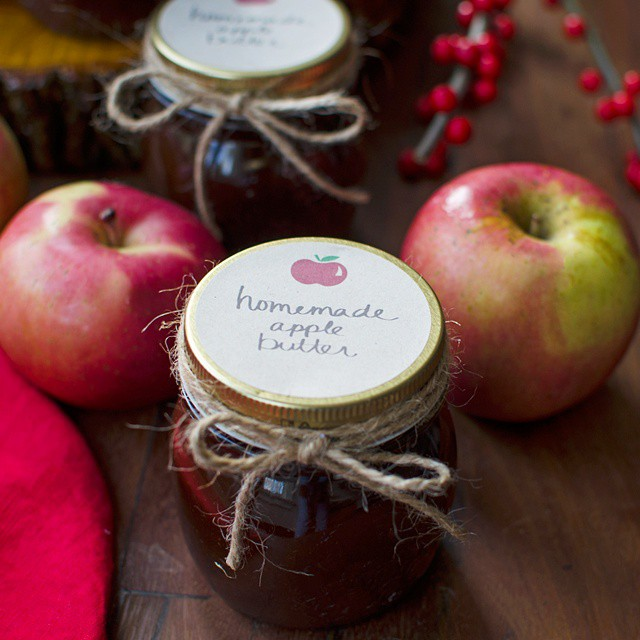 Homemade apple butter is the perfect hostess gift for all of those holiday parties! Top it off with…