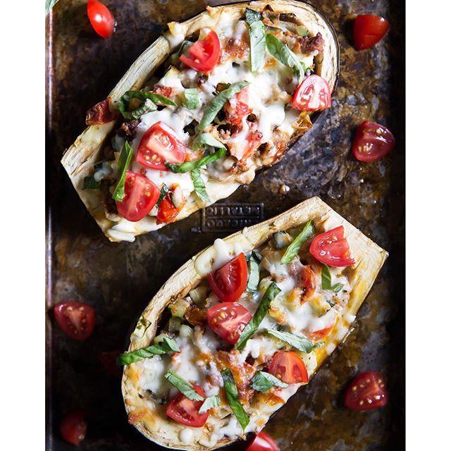 Turkey Stuffed Eggplant Boats