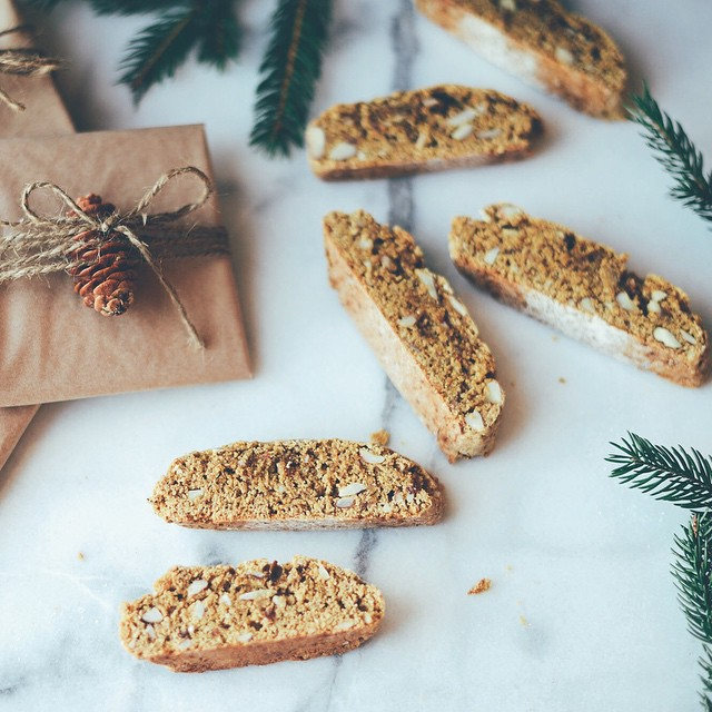 Lemon Anise Almond Cornmeal Biscotti
