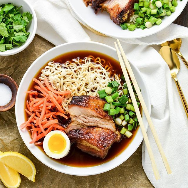 Ramen With Beer Braised Pork Belly