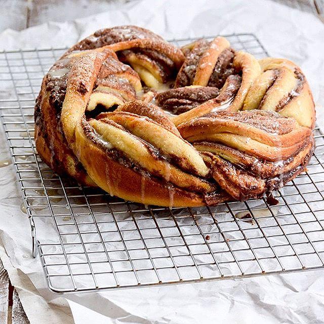 Cardamom, Chocolate And Hazelnut Braided Bread