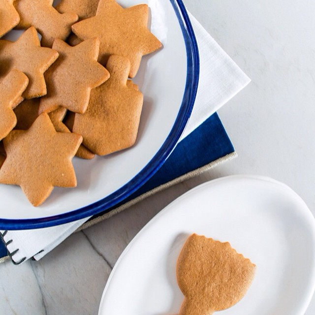 Hanukkah Gingerbread Spiced Cookies