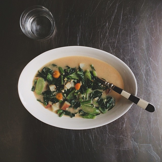 Chicken Soup With Sweet Potato And Collard Greens