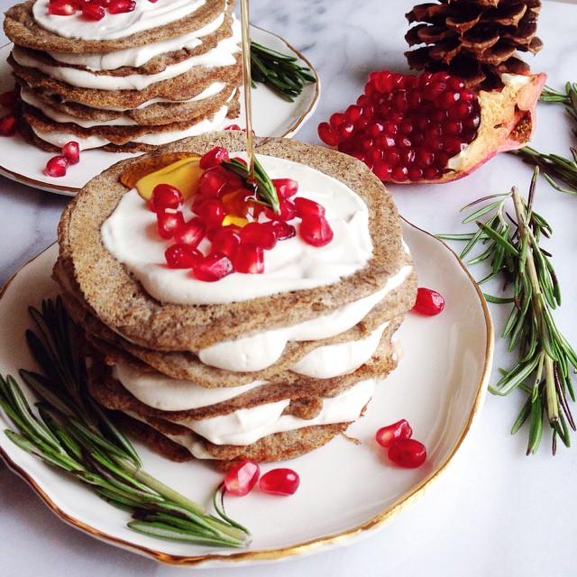 Vegan Gluten-free Buckwheat Pancakes With Cashew Cream