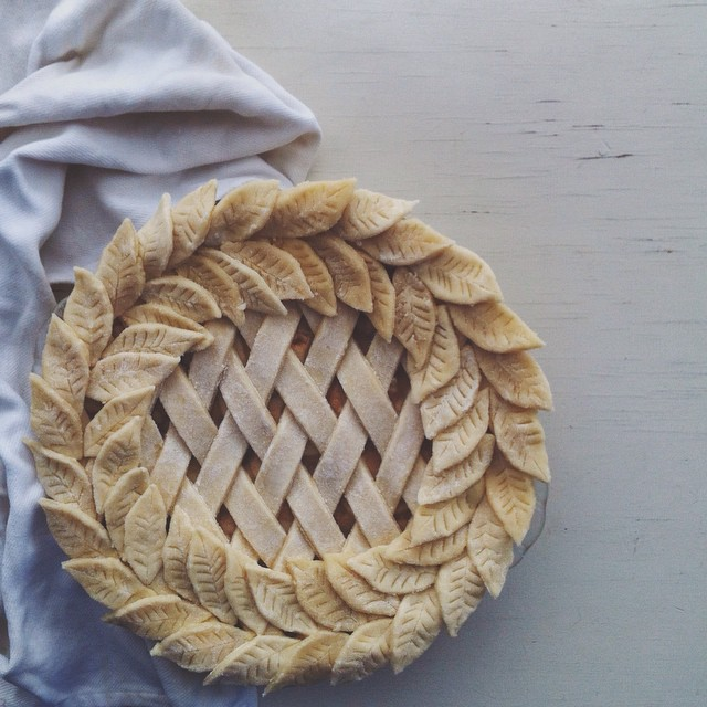 Lattice And Leaf Pie