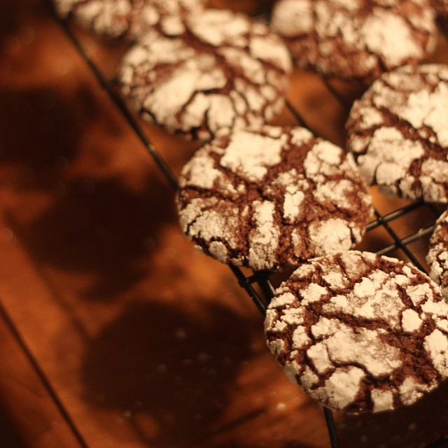 Crinkle / chocolate mint cookies!! Too delicious