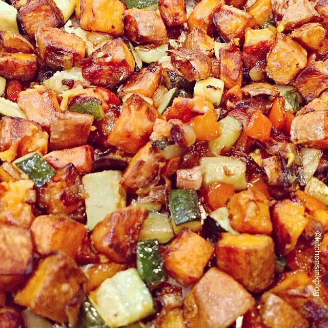 RECIPE:<br><br> serves 4 - 6 people<br> Ingredients:<br> 2 large sweet potatoes<br> 1 zucchini<br> 1…