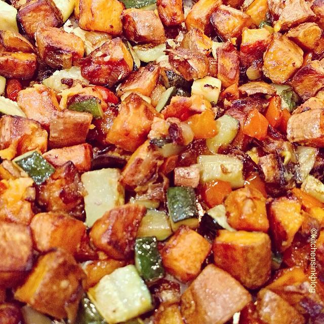 Chakalaka Roasted Yams, Vidalia Onion, Zucchini And Red Peppers