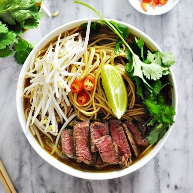 Asian Beef & Noodle Soup