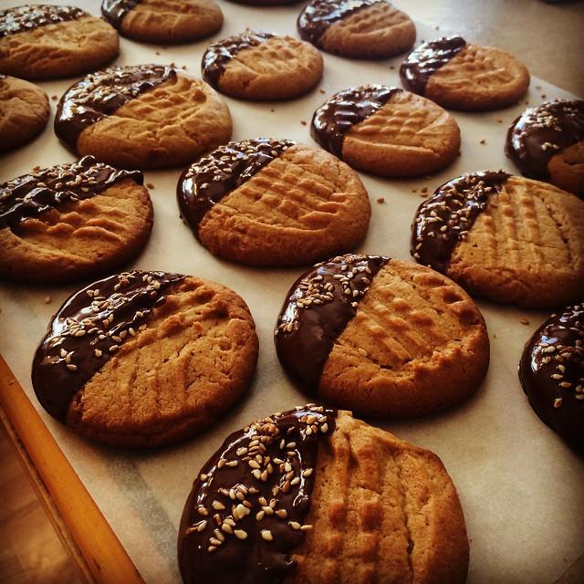 Peanut Butter White Miso Hannukah Cookies