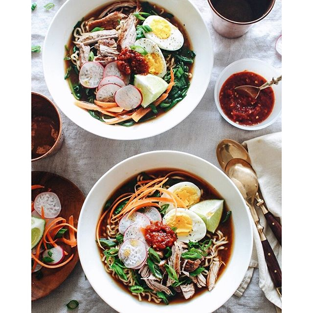 Pork Ramen Noodle Bowls In A Soy Miso Broth recipe | The Feedfeed