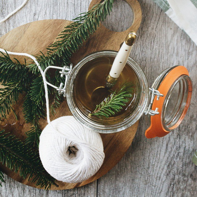 Share presents, open gifted whiskey, forage the tree, make balsam syrup.