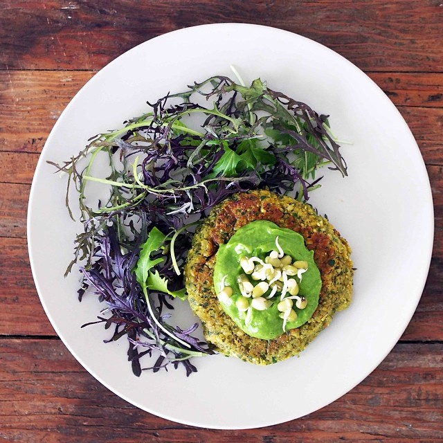 Spring Mung Bean Cakes With Cilantro Cream