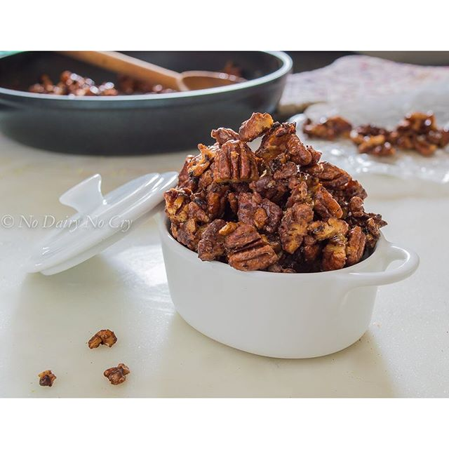 Healthy Candied Cocoa Pecans