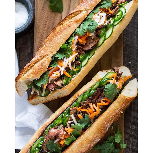 Lemongrass Steak Banh Mi Sandwich • Cooking with Cocktail ...