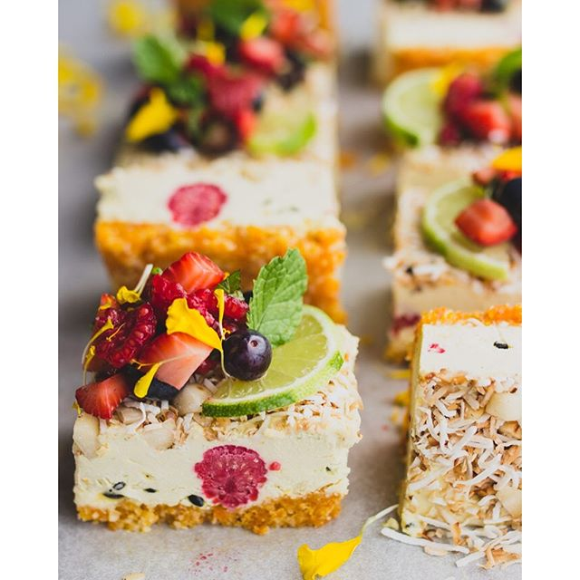 Tropical Slice With Fresh Berry Salsa