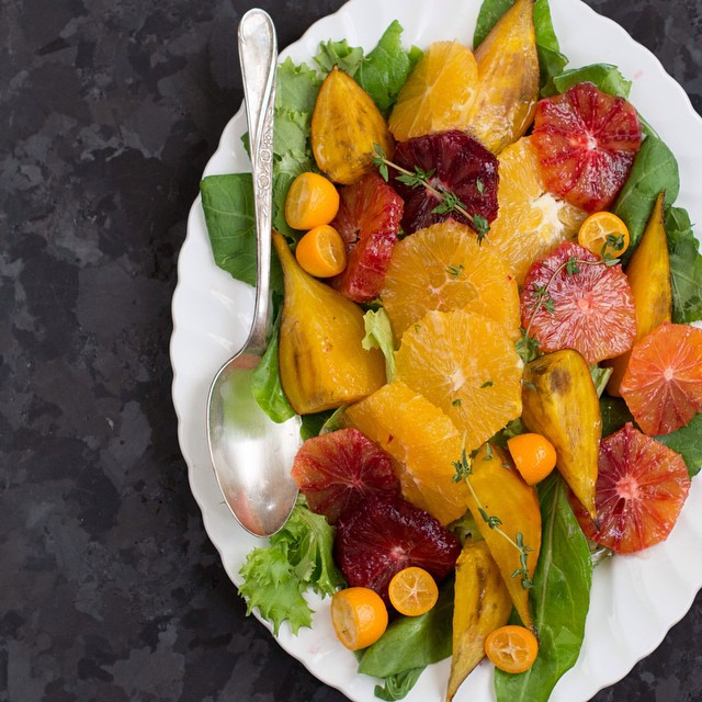 Warm Roasted Beets And Winter Citrus Salad