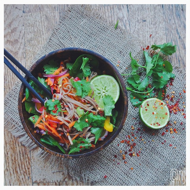 Soba Noodle Salad With Spicy Peanut Dressing (raw)