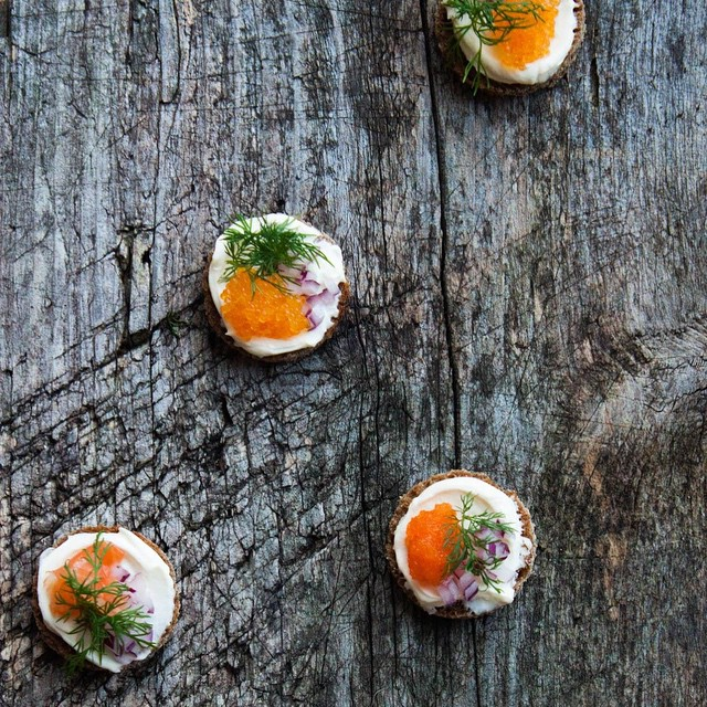Nordic Canapés With Roe & Gravlax