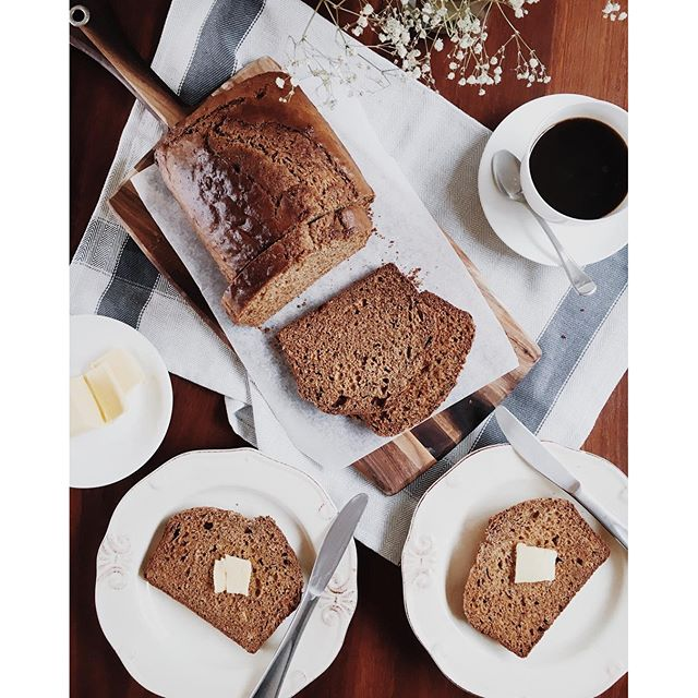 Yay! It's Sunday and looking forward to going to church. Having BANANA BREAD that I baked last night…