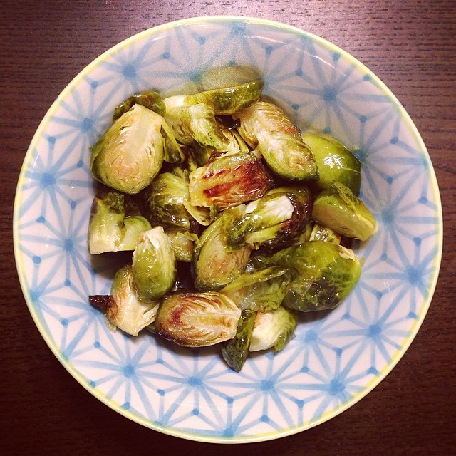 Roasted Brussels Sprouts With Mapled Brown Butter Drizzle