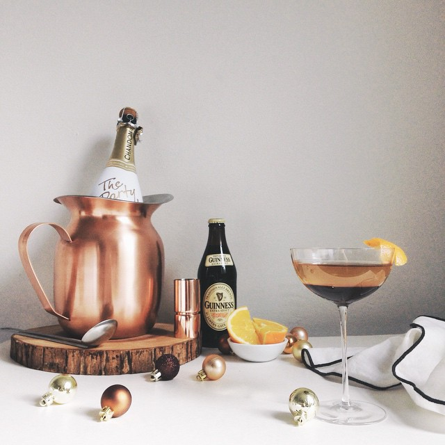 Champagne + chocolate + beer = one fancy-pants New Year's Eve cocktail!
