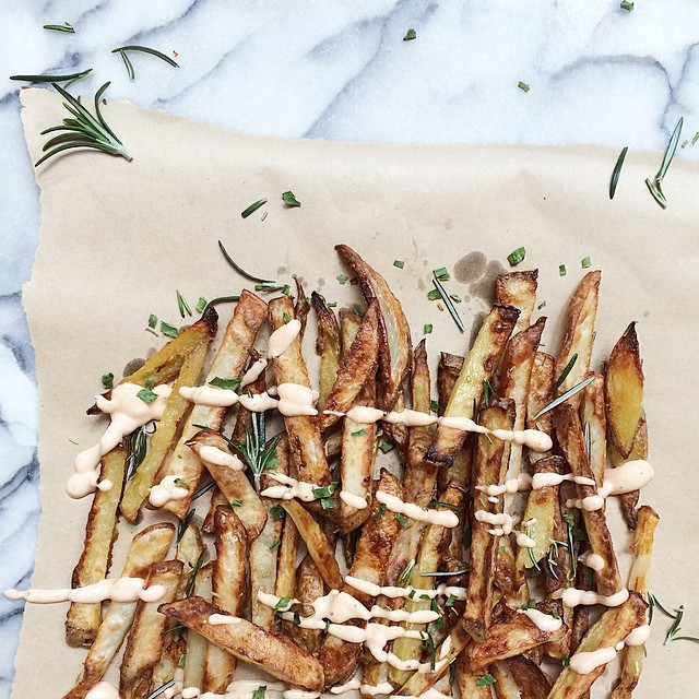 Oven Baked Herby Fries