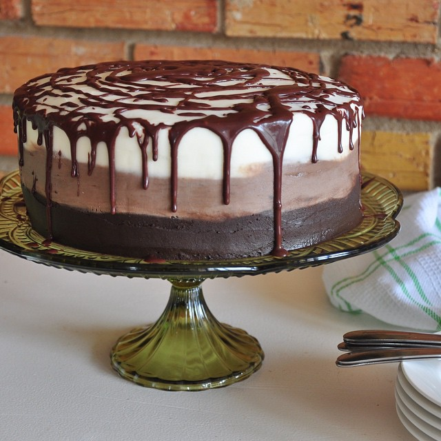 Wicky Wacky Dark Chocolate Cake With Coffee Buttercream