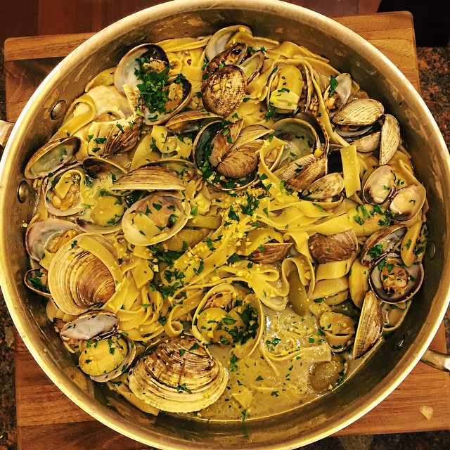 Ribbon Pasta With Clams