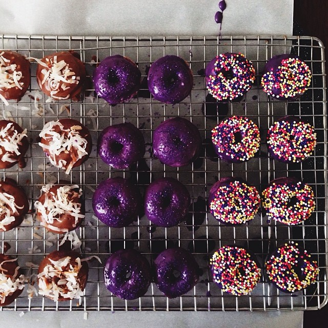 Mini Ube Donuts
