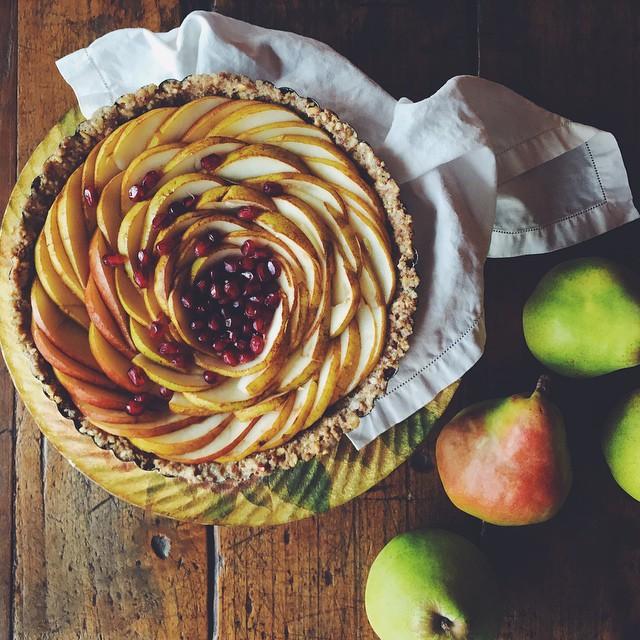 Pear Spiral Tart (raw)