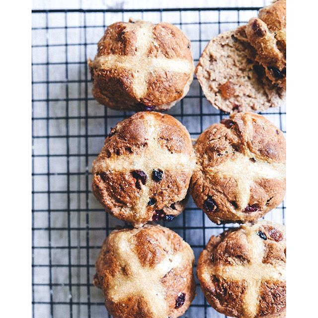 Happy Easter. So exciting to see so many of you making my 'healthy hot cross buns'.