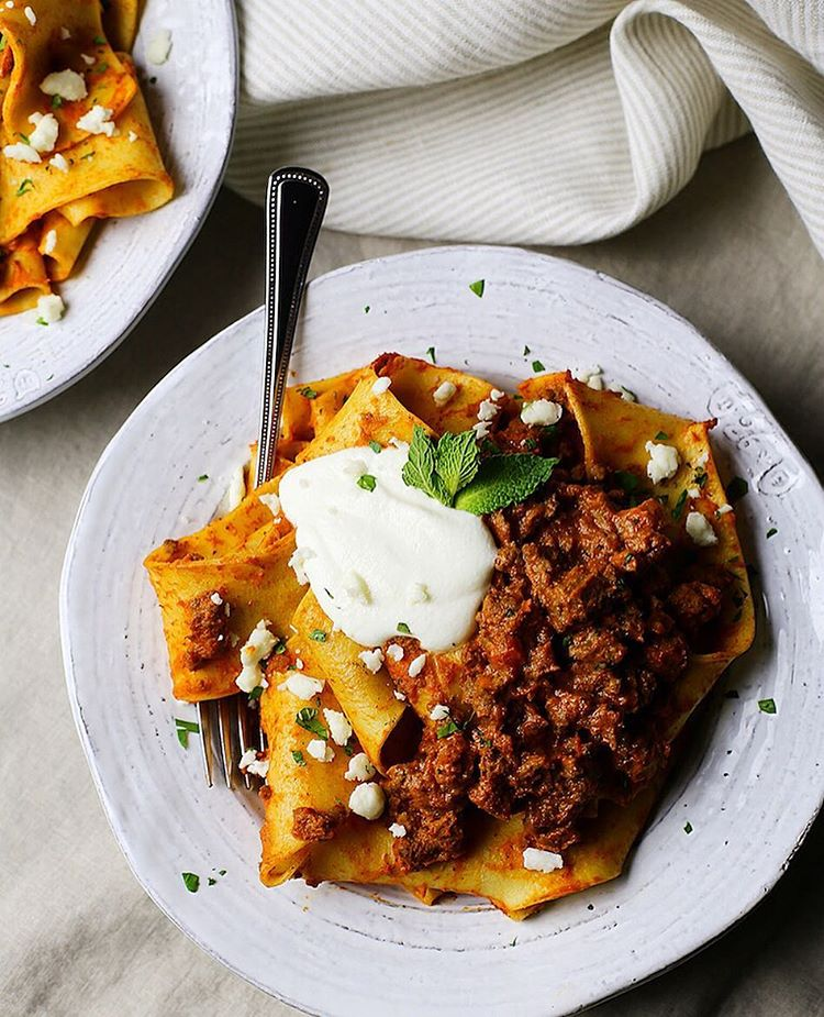 Pappardelle With Za'atar Lamb Bolognese And Yogurt Ricotta ...