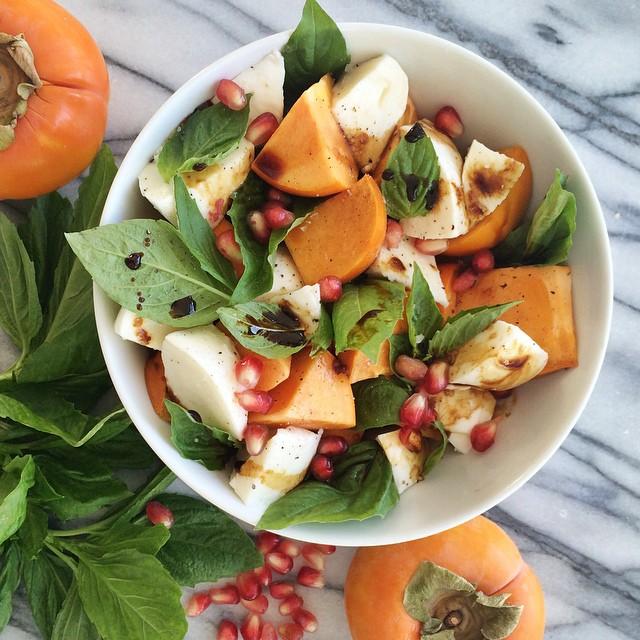 Fresh Burrata & Persimmon Caprese Salad
