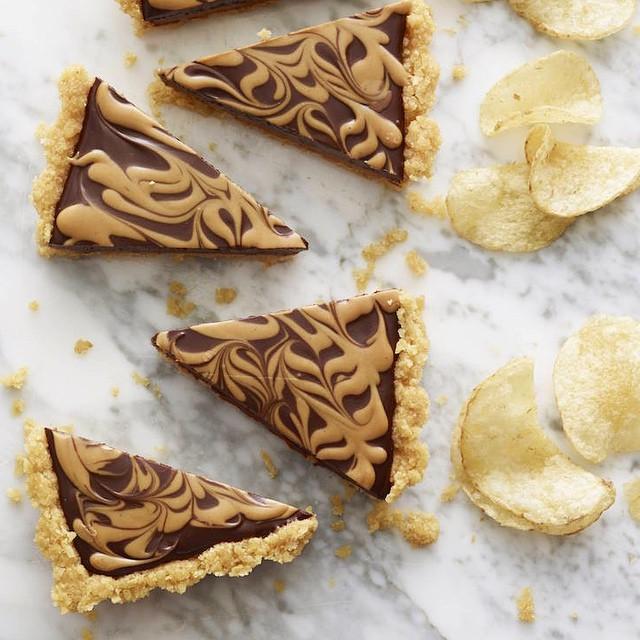 Chocolate & Peanut Butter Potato Chip Tart