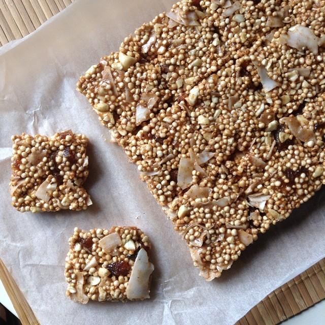 Puffed Quinoa Squares