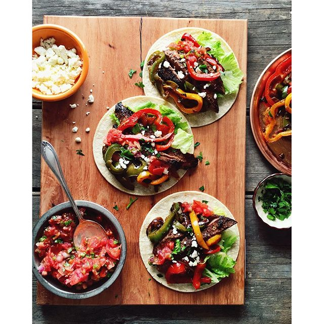 As requested by @thefeedfeed, a sneak peek of the steak fajitas we shot today! #feedfeed