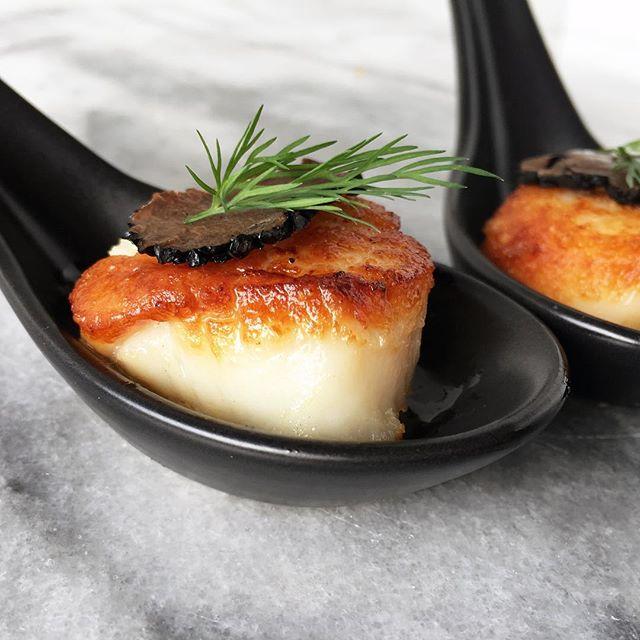 Seared Scallops With Truffle Carpaccio