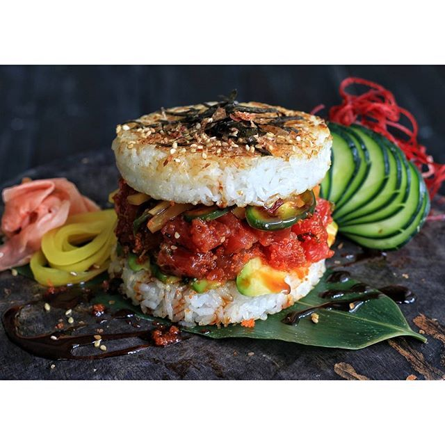 Spicy Tuna Rice Burgers By The Colors Of Yum Quick Easy Recipe The Feedfeed
