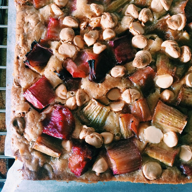 Rhubarb & White Chocolate Blondies. This was my first attempt at brownies/blondies and I have to say…